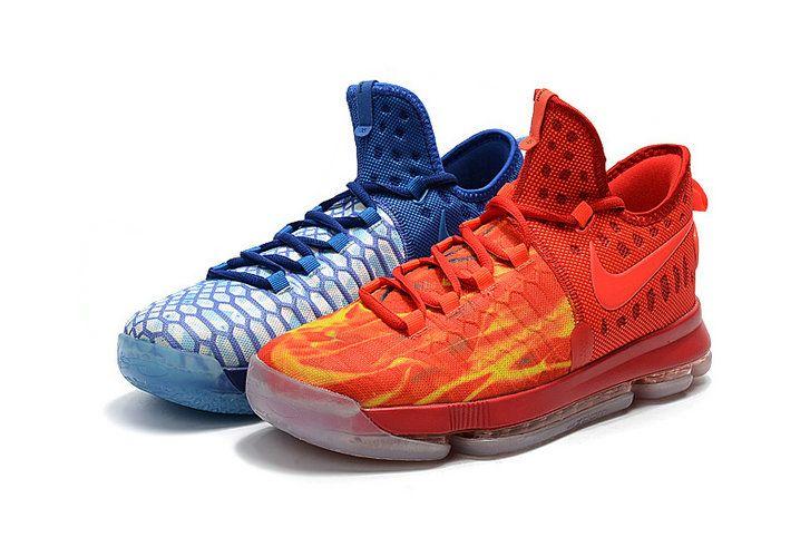 2017 High Quality Nike KD 9 IX 855908 400 Fire Ice Deep Royal Blue Photo  Blue ebc6d082c