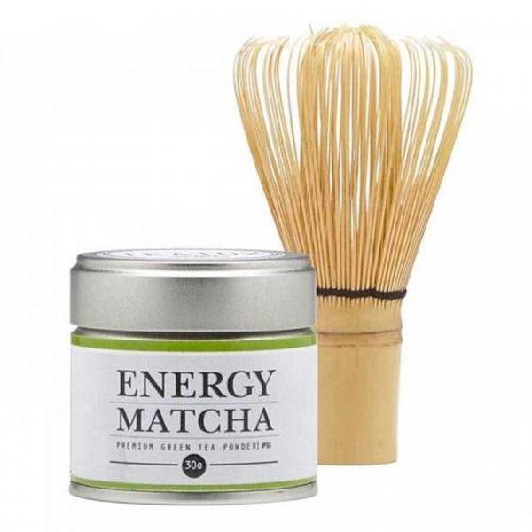 Teatox Geschenkset Matcha Tee mit Bambusbesen