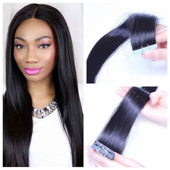 True Skin Weft Pu Russian Cuticle Remy Malaysian Human Hair