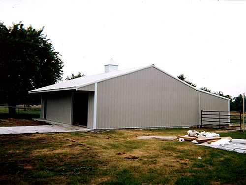 Prefabricated steel garage buildings and kits for Residential garage kits