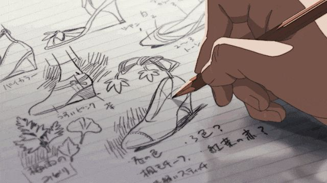 This animation!!! DAMN!!!!!!! Anime Movie: The Garden of Words