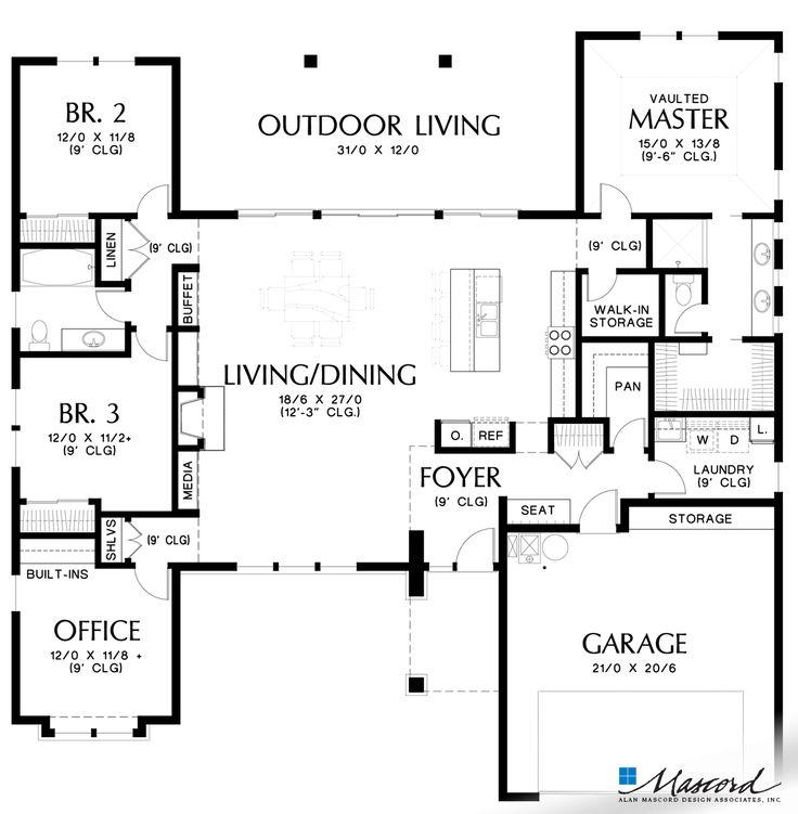 Mascord Floor Plans Part - 45: 787 Best House Plans Images On Pinterest | Architecture, House Design And  House Floor Plans