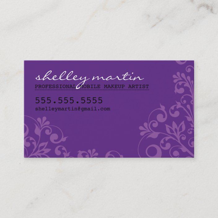 Bold Bright Organic Swirl Pattern Violet Purple Business Card Zazzle Com Swirl Pattern Text Business Card Business Card Minimalist