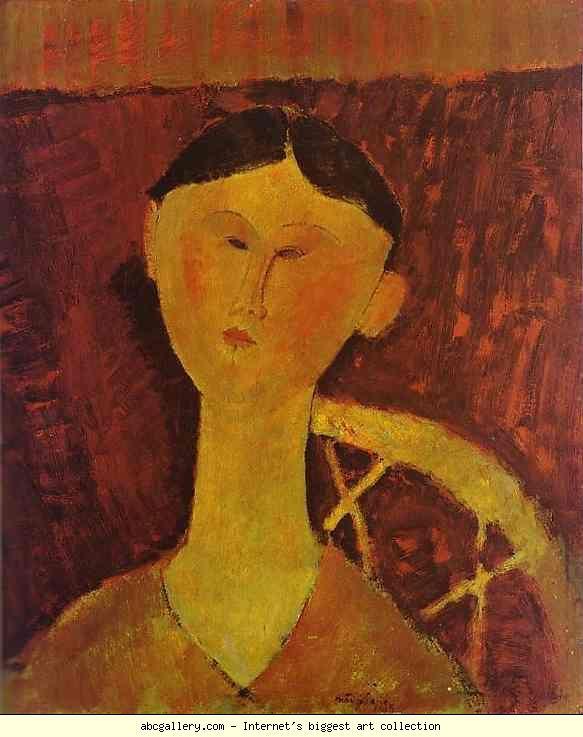 jeanne hebuterne in red shawl Jeanne hebuterne in red shawl, öl auf leinwand von amedeo modigliani (1884-1920, italy) #ölaufleinwand #modigliani amedeo modigliani.