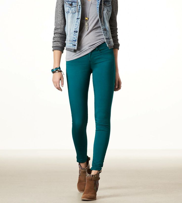 teal sateen jeggings american eagle my style