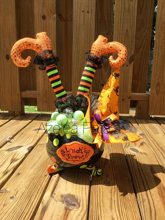 halloween bubbling witch cauldron halloween witch legs witch boots arrangement hat halloween - Witch Halloween Decorations