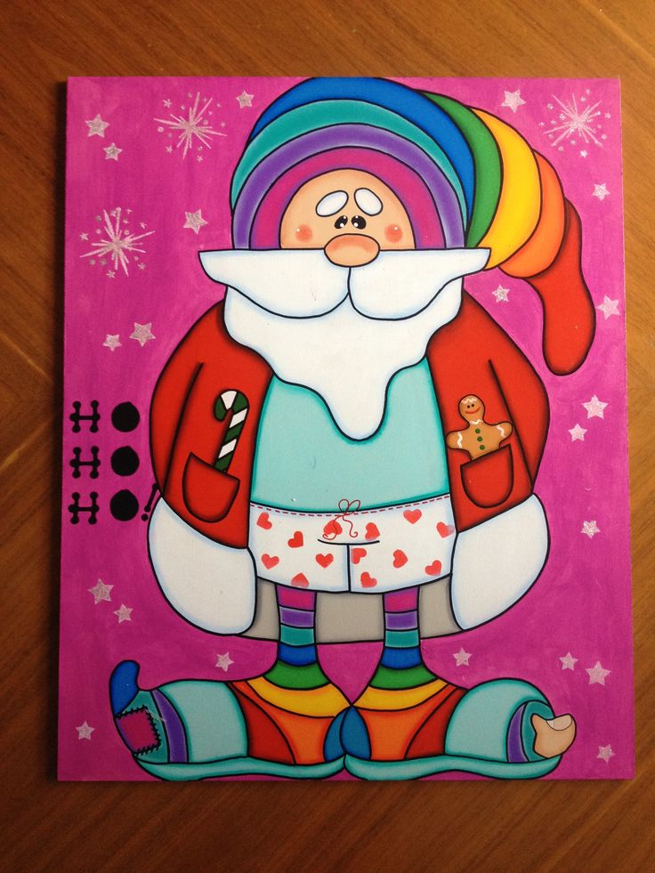 Santa Claus en ropa de descanso. Estaca para poner en tu jardín