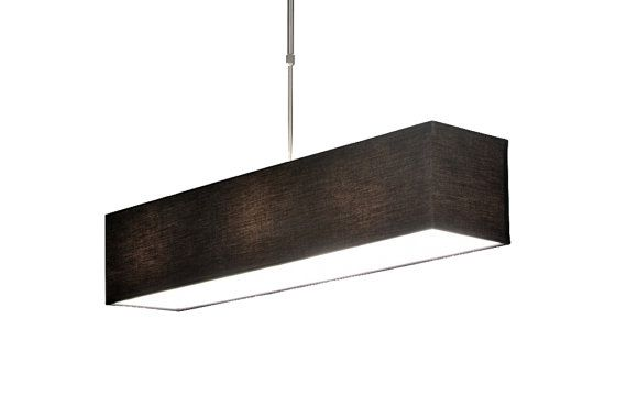 Black ceiling lights with rectangular by LightingLampDesign
