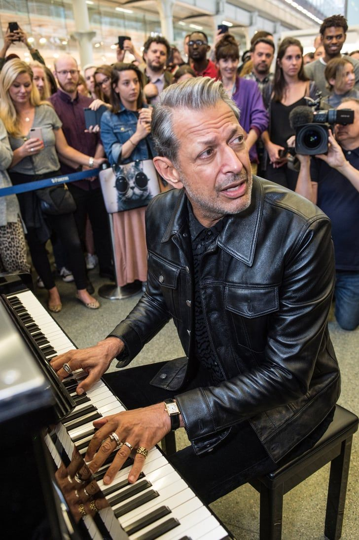 Be still our hearts jeff goldblum serenaded an entire