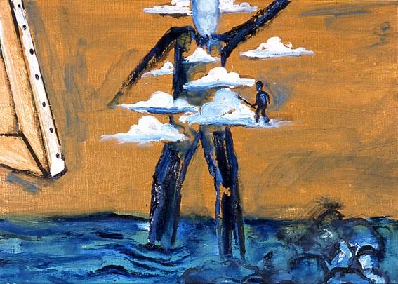 Enzo Cucchi, Lumi, 2007, oil on canvas, 25 x 34,5