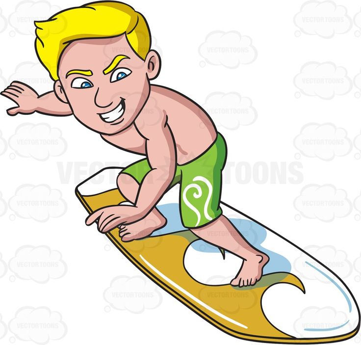 A surfer guy riding with thrill #cartoon #clipart #vector #vectortoons…