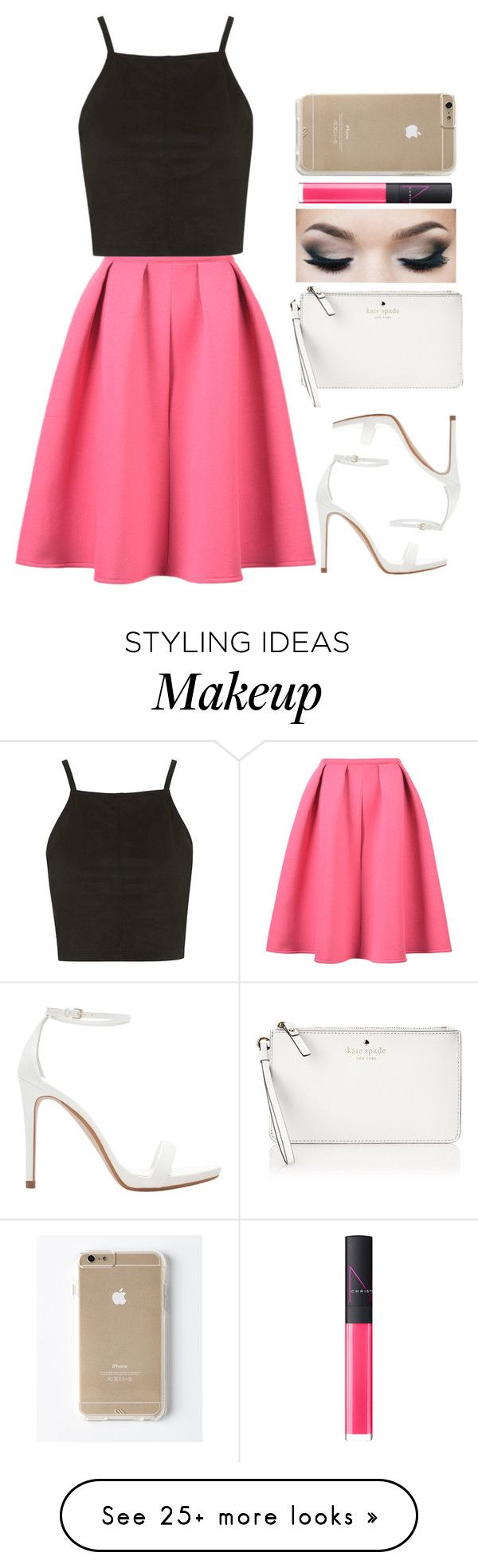 """"""""""" by meljordrum on Polyvore featuring Zara, Topshop, NARS Cosmetics and Kate Spade"""