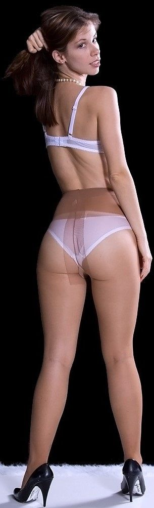Vintage girdle with lilac stockings 8