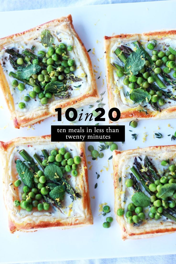 10 in 20: Spring Veggie Recipes: ten meals in twenty minutes or less #theeverygirl