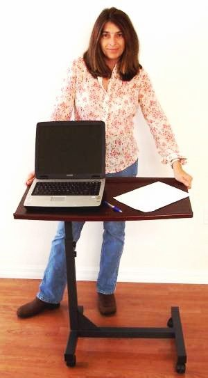LM1 Portable Laptop Bed Tray Table -Sit / Bed or Stand up use - Height Adjustable