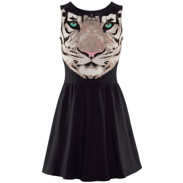 H&M PANTHER LION LEOPARD TIGER PRINT SKATER DRESS 8 10 12 14 16 BNWT ❤ liked on Polyvore featuring dresses, vestidos, robes, leopard skater dress, h&m dresses, leopard print skater dress, tiger print dress and skater dress