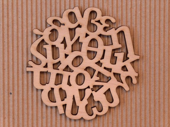 Greek Alphabet wooden coasters set by InvenioCrafts on Etsy, €14.00
