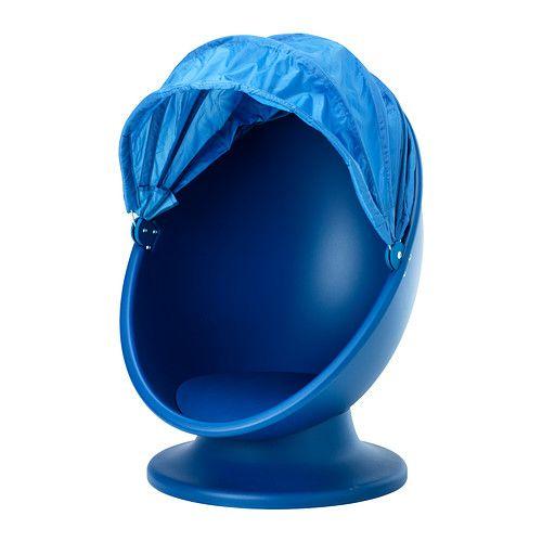 IKEA - IKEA PS LÖMSK, Draaifauteuil, , Als de kap naar beneden is wordt de stoel een mooie verstopplaats voor het kind.Lichtdoorlatende textiel, zodat het nooit helemaal donker wordt onder de kap.Draaien helpt de indrukken in het hoofd te sorteren.Gebruik een kussen voor nóg meer zitcomfort.