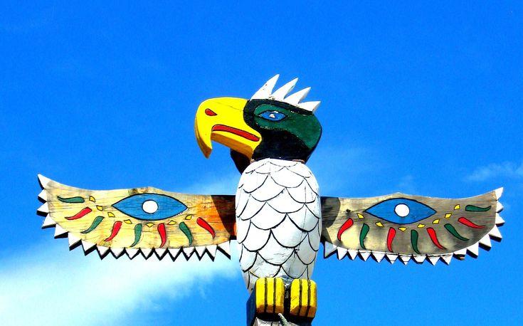 Totem, Paal, Vogel, Vleugels, Native, Amerikaanse