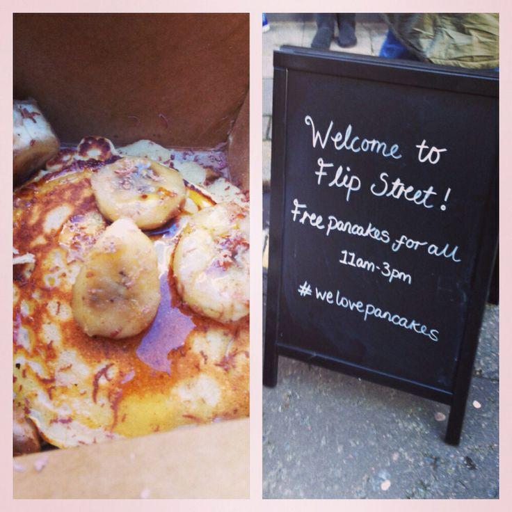 Free pancakes off Bricklane!