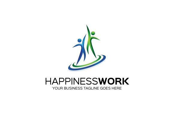 Happiness Work Logo Template With Images Logo Templates Logo