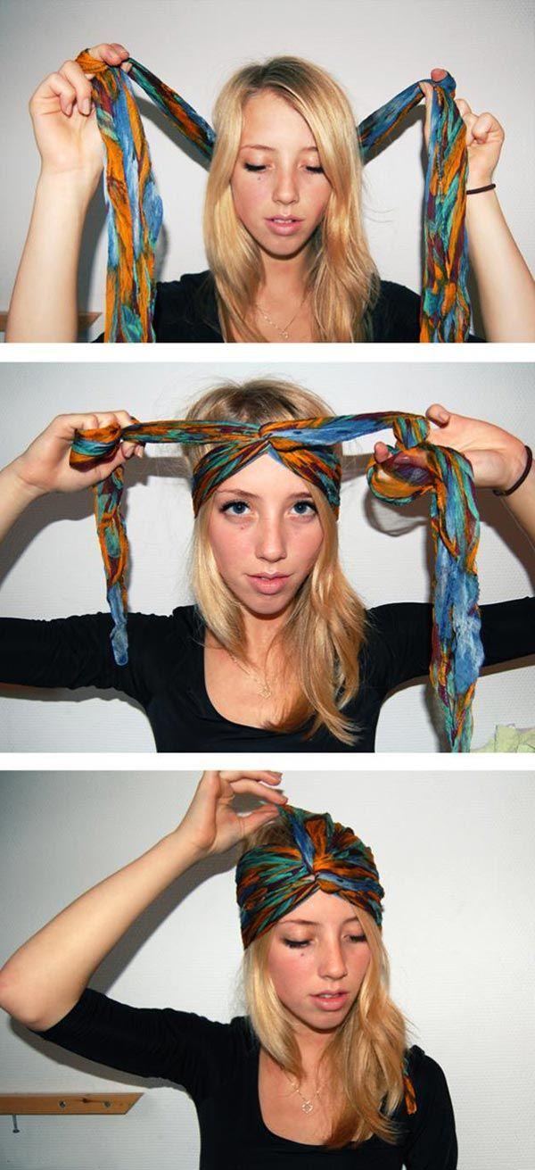 Hippi tarzı bandana bağlama