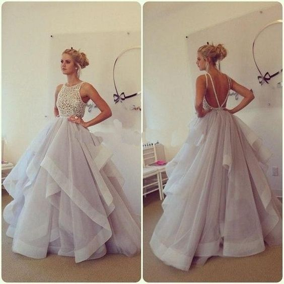 Lavender Ball Gown Prom Dresses,Backless Prom Dresses, Fluffy Skirt High Low Evening Prom Gowns,Open Back Lace Quinceanera Dresses For Teens Juniors Dress