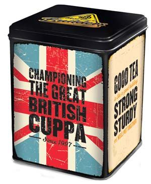 "Originally ""Builders Tea"" was an English term referring to  any cheap black tea, usually served at construction sites.  But Builders put the pride back into strong British tea, and  introduced this strong and sturdy blend, made of hand-  selected leaves  from Tanzania, Malawi, Kenya, and Uganda. Packaged in a  lovely tea tin, the caddy holds 80 bags."
