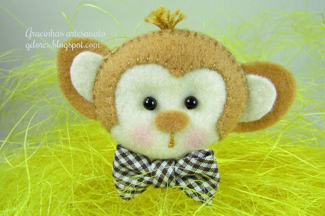 Gracinhas Artesanato: safari feltroGracinha Artesanato, Felt Things, Craft Blackboard, Felt Monkeys, Jokes Crafts, Feltro Animais, Felt Animal, Clothfelt Crafts, Fieltro Animal