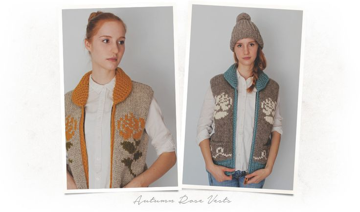 Autumn rose designs, also available in sweaters.