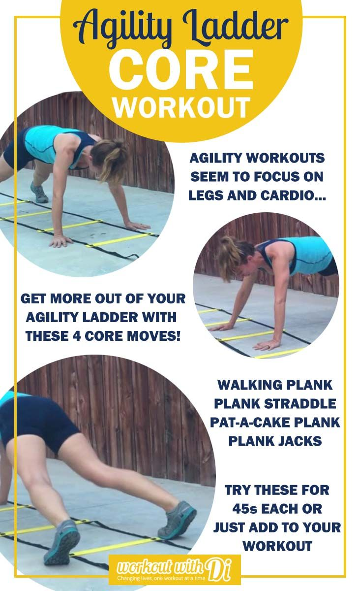 Agility Ladder Core workout, thinking outside the box with the agility ladder