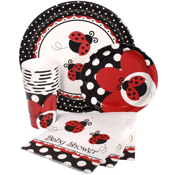 lady bug themed baby showers | Ladybug Baby Shower Express Party Package for 8, FREE shipping offer ...