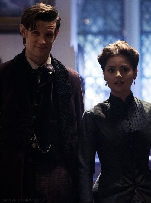 Clara and the Doctor.i really like this episode and this is my favorite incarnation of clara. she was sassy and smart i liked her.