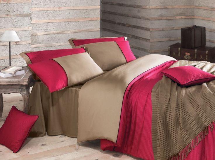Biancheria da letto di lusso , raso di cotone Viola, Fucsia Annette Issimo