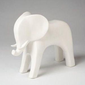 This matte white Elephant is an adorable accessory to add to any bookshelf, desk or nursery. By Dwell Studio.    FINISH:Matte White    [share]    *This item is available on backorder. This does not necessarily mean it's out of stock, only that we will need to place a special order just for you. Once you place your order we will notify you of the delivery timeframe with in 1 business day.