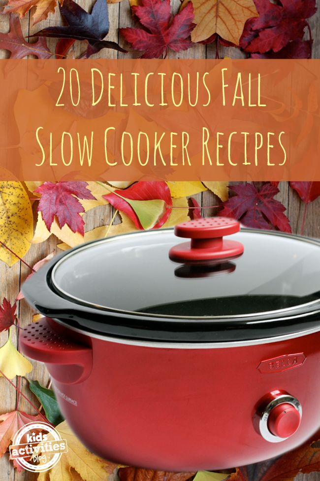 Time to bust out the crockpot! Fall slow cooker recipes, yum!