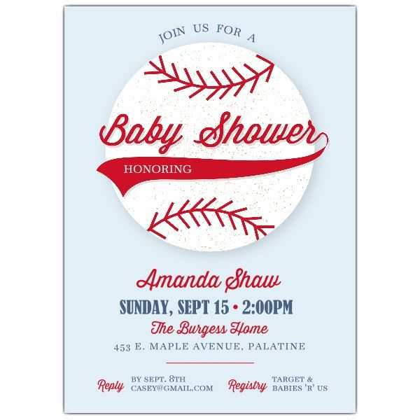little slugger baby shower invitations