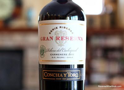 The Reverse Wine Snob: Concha y Toro Gran Reserva Serie Riberas Carmenere 2011 - Mix It Up. BULK BUY! Guaranteed to please. http://www.reversewinesnob.com/2013/12/concha-y-toro-gran-reserva-serie-riberas-carmenere.html
