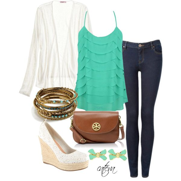 """""""Cute Spring Outfit"""" by cateva on Polyvore"""
