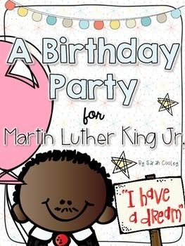 Make Martin Luther King, Jr. Day into a fun-filled learning celebration by throwing a birthday party in his honor!  This birthday party kit comes with a variety of activities that are perfect for little learners.