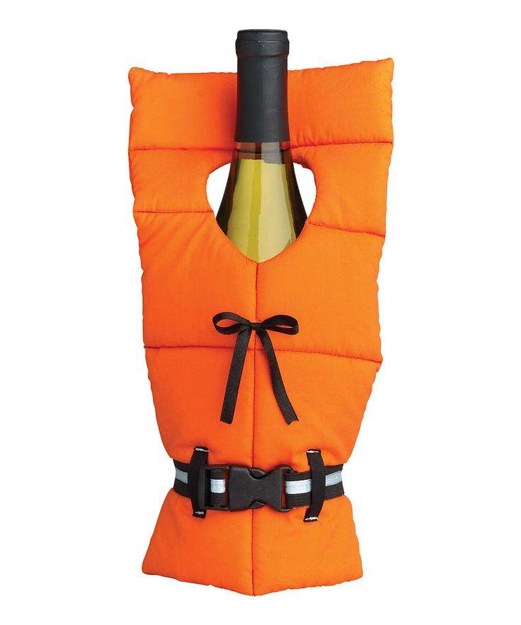 Life Preserver Wine Bottle Cover ~~ Would make a perfect gift for a savvy sailor or hostess at a nautical themed party