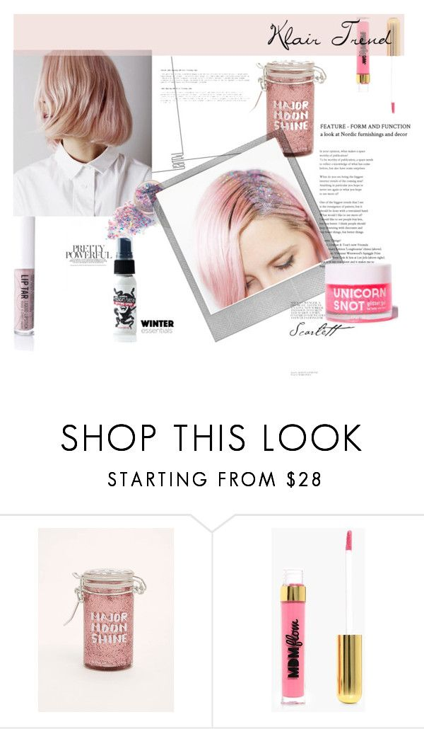"""glitter hair"" by kiki-majens-tumaiself ❤ liked on Polyvore featuring beauty, Torrid, Boohoo and Polaroid"