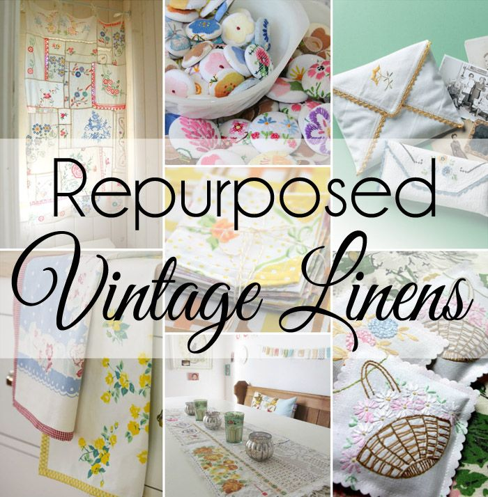15 Cute Ways to Repurpose and Upcycle Vintage Linens