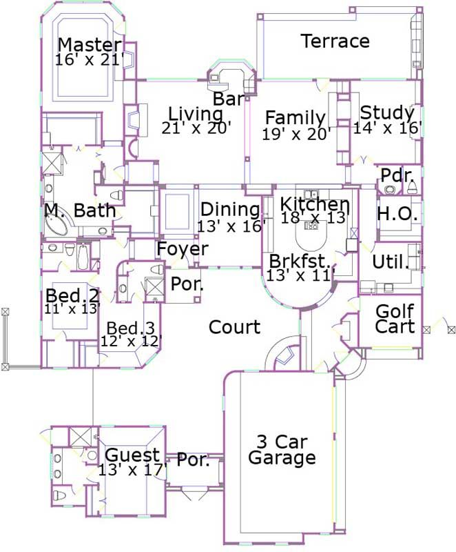 planes de la casa de lujo de estilo pies cuadrados de construccin home