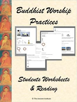 Here's everything you need to teach about Buddhist Worship Practices.  From temples and pagoda to offerings and meditation, your students will be thoroughly engaged in this informative reading filled with images and photographs.  Students will practice their Common Core literacy skills by reading and answering the corresponding guided questions.