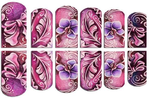 Nail Art Sticker Aufkleber Nagelsticker Nageldesign Tattoo wrap 4 | eBay