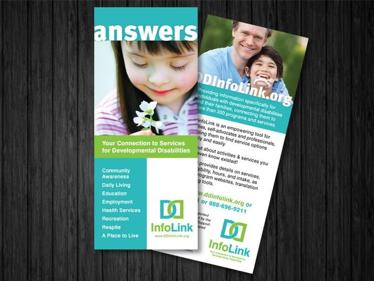 Branding and promotion for DD Info Link, information services for individuals with developmental disabilities
