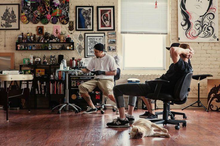 Hypebeast spaces lucky olelos tattoo studio fashion men for Tattoo shop hackney road