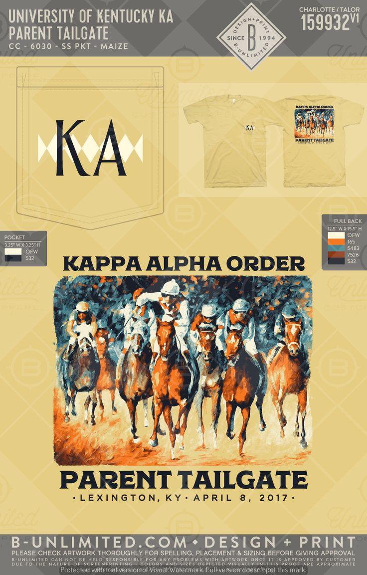 University of Kentucky- Kappa Alpha Order #BUonYOU #greek #greektshirts #greekshirts #fraternity #KappaAlphaOrder #parentsweekend #KA