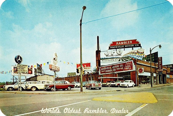 Used Car Dealerships Knoxville Tn >> Knoxville Motor Co. Rambler, M-B, Knoxville TN, Early 1960s | Knoxville tn, Knoxville, Knoxville ...